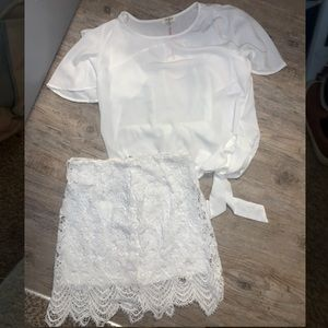 🚨LAST CHANCE BRAND NEW W/TAGS WHITE TOP + SKIRT